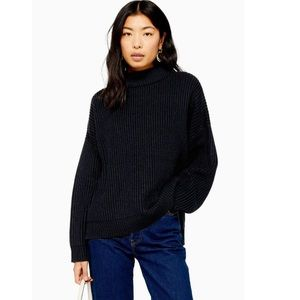 NWT TOPSHOP ACRYLIC FUNNEL NECK SWEATER